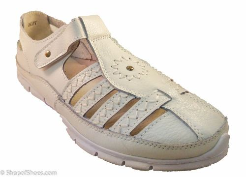 Great value white lightweight comfortable fun summer shoe.
